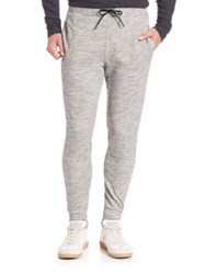 Theory Drawstring Heathered Sweatpants Dark Heather