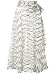 Lisa Marie Fernandez Polka Dot Beach Skirt Women Cotton 3 White