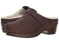 Sanita Whitney Antique Brown Clog Shoes