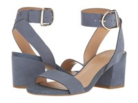 Franco Sarto Marcy Country Blue Diva Suede Women's Sandals