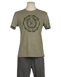 Fred Mello Topwear Short Sleeve T Shirts Men Military Green