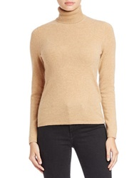 Lord And Taylor Cashmere Turtleneck Sweater Classic Camel Heather