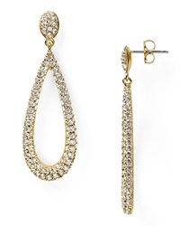 Nadri Open Long Teardrop Earrings Gold