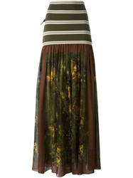 Jean Paul Gaultier Vintage Printed Ruffle Skirt Multicolour