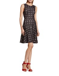 Vince Camuto Lace Fit And Flare Dress Rich Black