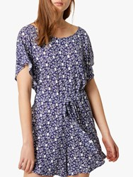 French Connection Mollara Meadow Playsuit Nocturnal White