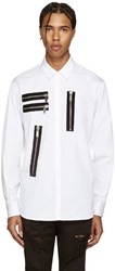 Dsquared White Zips Relax Dan Shirt
