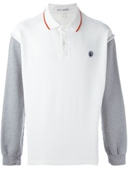 Comme Des Garcons Gara Ons Vintage Contrasted Sleeve Polo Shirt White