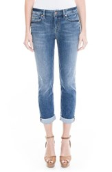 Level 99 Women's Lily Stretch Distressed Crop Cuff Jeans Eastbank