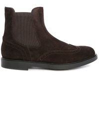 Fratelli Rossetti Brown Suede Gum Sole Chelsea Boots