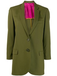 Paul Smith Ps Classic Fitted Blazer Green