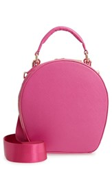 Deux Lux Annabelle Faux Leather Circle Crossbody Bag Pink Raspberry