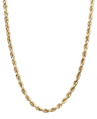 Macy's 14K Gold Necklace 22' Seamless Rope