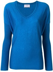 Snobby Sheep V Neck Sweater Blue