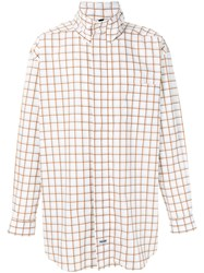 Martine Rose Lightweight Check Jacket White