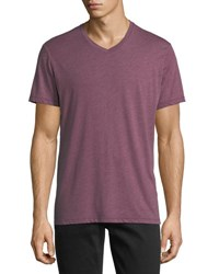 Velvet V Neck Soft Heather Tee Verbena