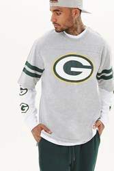Forever 21 Nfl Green Bay Packers Tee Heather Grey Green