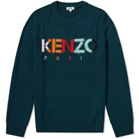 Kenzo Colour Paris Logo Knit Green