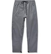 Nikelab Acg Variable Tapered Cotton Blend Drawstring Trousers Gray