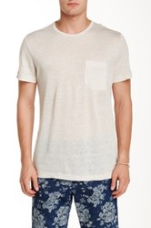 Slate And Stone Linen Crew Neck Tee Beige