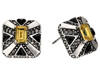 House Of Harlow Art Deco Stud Earrings Silver Earring