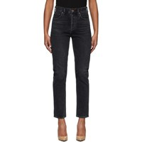 Citizens Of Humanity Black Charlotte High Rise Straight Jeans