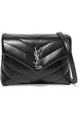 Saint Laurent Loulou Toy Quilted Leather Shoulder Bag Black