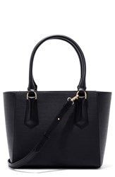 Dagne Dover 365 Signature Midi Faux Leather Tote Black Onyx