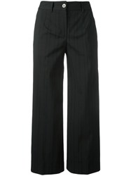 Blumarine Straight Cropped Trousers Black