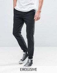 Noose And Monkey Skinny Fit Tuxedo Jogger Black