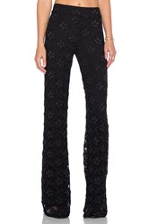 Nightcap Dixie Lace High Waist Trouser Black