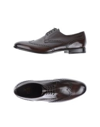 Fabi Lace Up Shoes Dark Brown