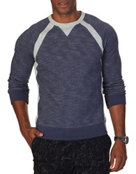 Nautica Colorblock Cotton Sweatshirt Blue