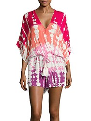 Young Fabulous And Broke Ashley Printed Short Jumpsuit Hibiscus