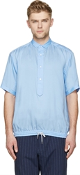 Kolor Light Blue Drawstring Shirt