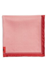 Men's Robert Talbott Herringbone Silk Pocket Square