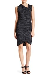 Research And Design Sleeveless Faux Wrap Dress Black