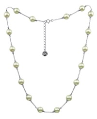 Majorica Sterling Silver Necklace Organic Man Made Pearl Illusion