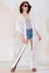 Nasty Gal Lisa Maree The Breaking News Crochet Kimono