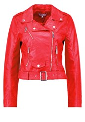Morgan Gary Faux Leather Jacket Red
