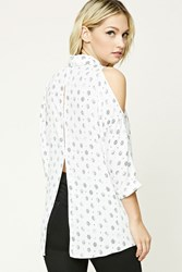 Forever 21 Contemporary Tribal Print Top