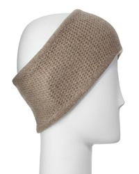 Portolano Cashmere Honeycomb Headband Nile Brown