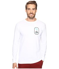 O'neill Motu Long Sleeve Screen Tee Imprint White Men's T Shirt