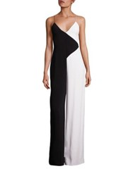 Cushnie Et Ochs Colorblock Wide Leg Jumpsuit Black White