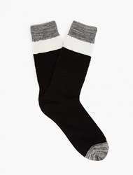 N A Black Striped Cotton Socks