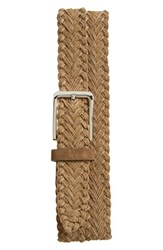 Men's The Tie Bar Suede And Textile Braided Belt