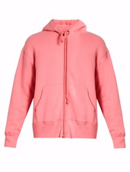Raey Zip Through Japanese Jersey Hooded Sweatshirt Pink