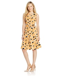 Jones New York Sleeveless Animal Print Flare Dress
