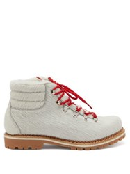 Montelliana Marlena Calf Hair Hiking Boots White