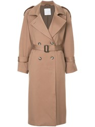 Cityshop Double Breasted Coat Brown